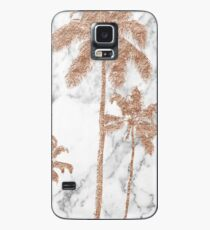 Rose gold marble palms Case/Skin for Samsung Galaxy