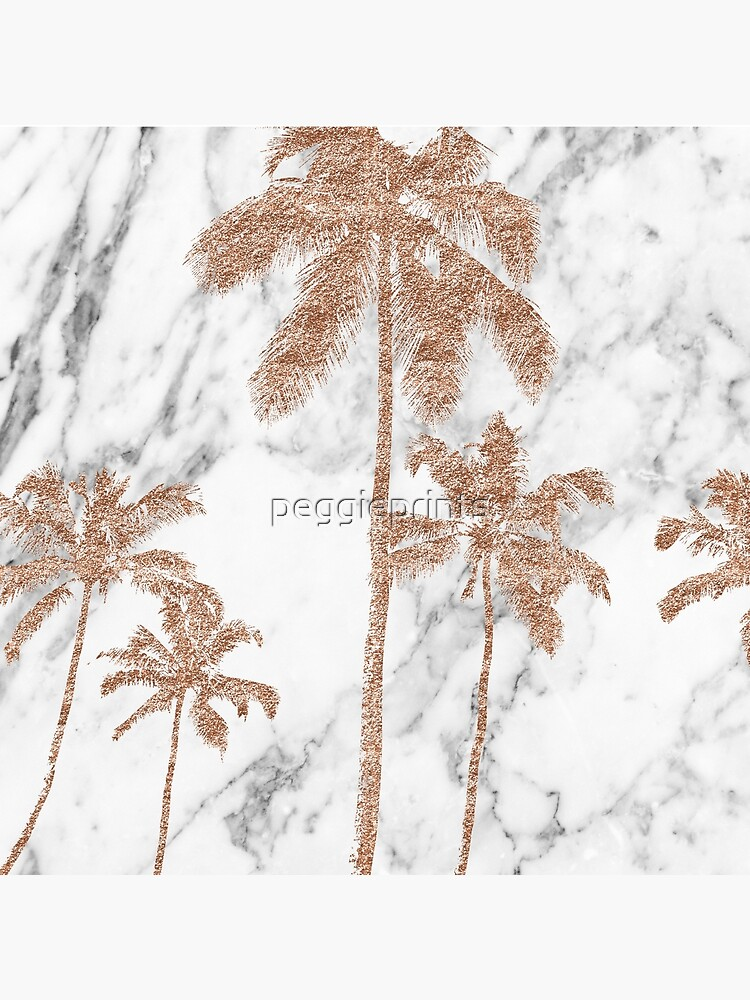 Rose gold marble palms by peggieprints