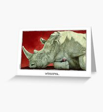 Will Bullas card / wine-oceros Greeting Card