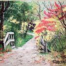 Bike Trail in Fall by Carolyn Bishop