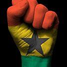 Flagge von Ghana auf einer angehobenen geballten Faust von jeff bartels