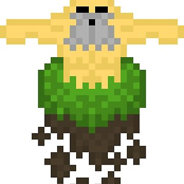 Pixel Earth God by TheLoneNub