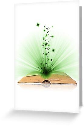 Open book magic on white by Kudryashka