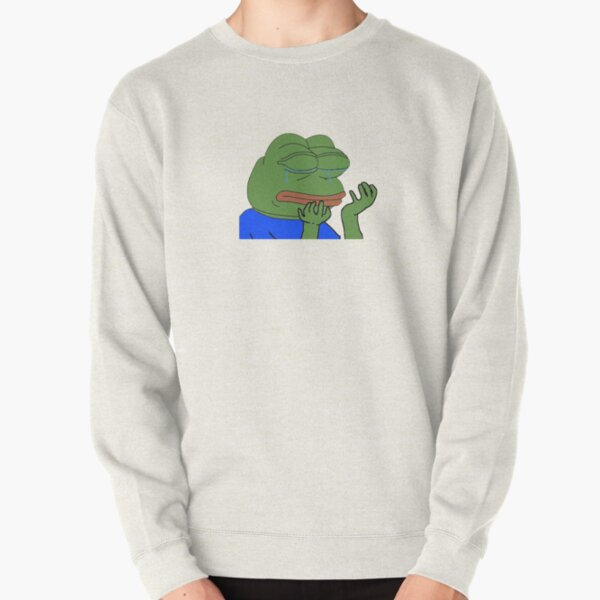 PepeHands Twitch Emote Pullover Sweatshirt