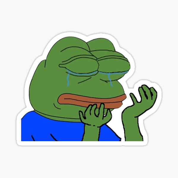 PepeHands Twitch Emote Sticker