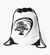 Cypress Trees Drawstring Bag