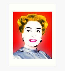 Joan Crawford Pop Art Art Print