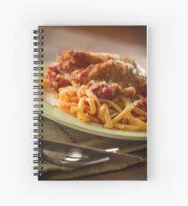 Chicken Parmesan with Linguine Spiral Notebook