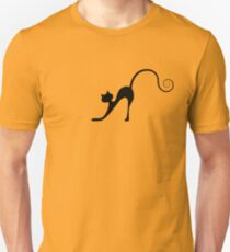 Black cat silhouette Unisex T-Shirt