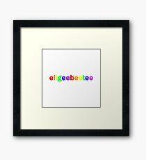 ellgeebeetee  Framed Print