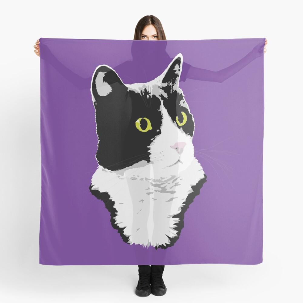 Regal Tuxedo Kitty Scarf