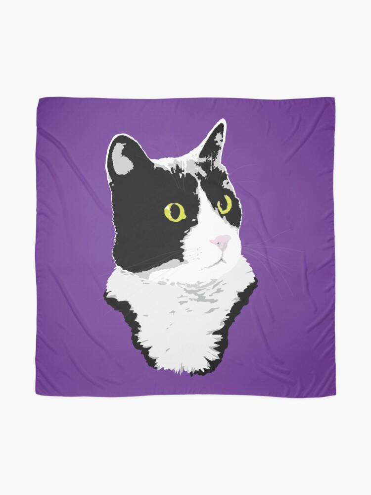 Alternate view of Regal Tuxedo Kitty Scarf