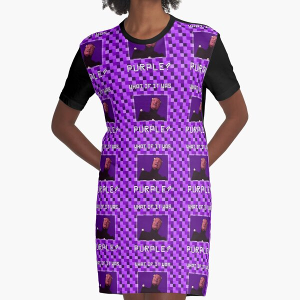 What if it was Purple? Graphic T-Shirt Dress