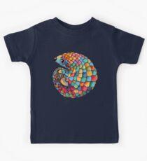Regenbogen Pangolin Kinder T-Shirt