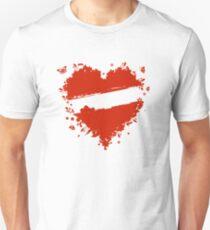 Floral heart shape Unisex T-Shirt