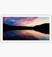 Purple sunset Sticker