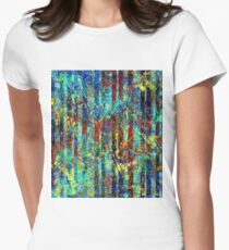 striped Women's Fitted T-Shirt