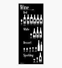 Wine Infographic Photographic Print