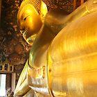 The Reclining Golden Budha - Wat Pho by Alexeiz