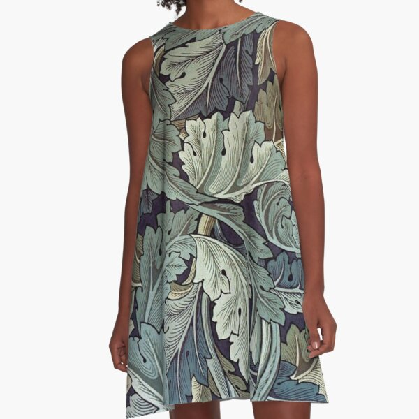 Acanthus by William Morris A-Line Dress