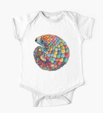 Rainbow Pangolin Short Sleeve Baby One-Piece