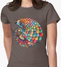 Rainbow Pangolin Women's Fitted T-Shirt