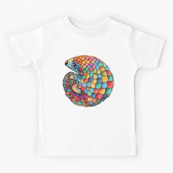 Rainbow Pangolin Kids T-Shirt