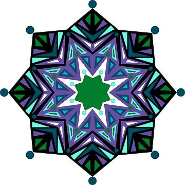 Triad Mandala in Cool Colors by annbelleproject