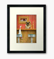 Lámina enmarcada Will Bullas / art print / brew pug / humor / perro / pato
