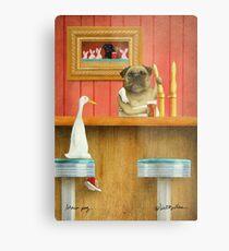 Will Bullas / art print / brew pug / humor / dog / duck Metal Print