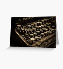 The keys to a good story. Greeting Card
