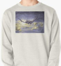 """Sky Ray and the Ants"" - Digital Mixed Media Painting Pullover"