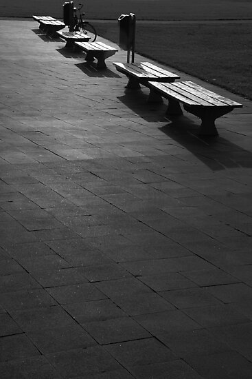 Bench & bicycle by PeterBusser