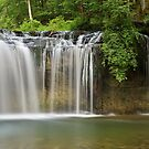 Gour Bleu in Herisson waterfalls by Patrick Morand