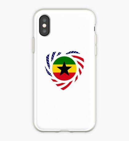 Ghanaian American Multinational Patriot Flag Series iPhone Case