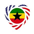 Ghanaian American Multinational Patriot Flag Series 2.0 by Carbon-Fibre Media