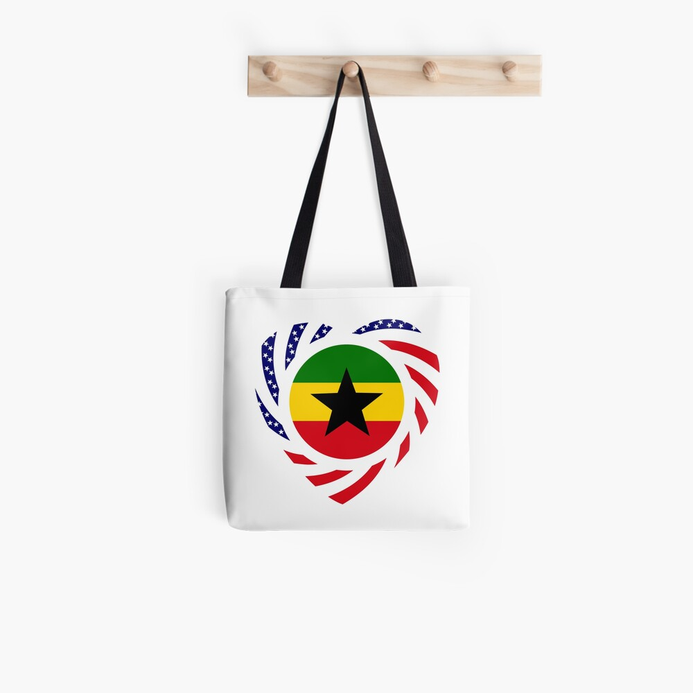 Ghanaian American Multinational Patriot Flag Series Tote Bag