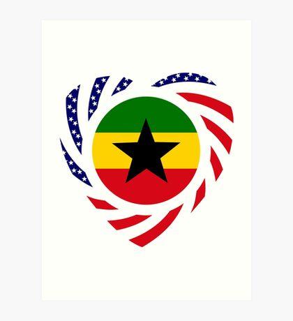 Ghanaian American Multinational Patriot Flag Series Art Print