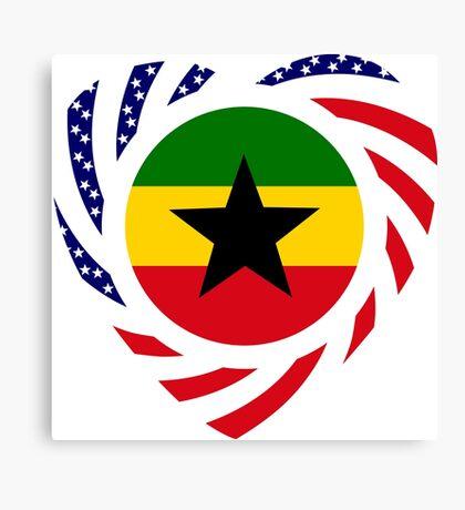 Ghanaian American Multinational Patriot Flag Series Canvas Print