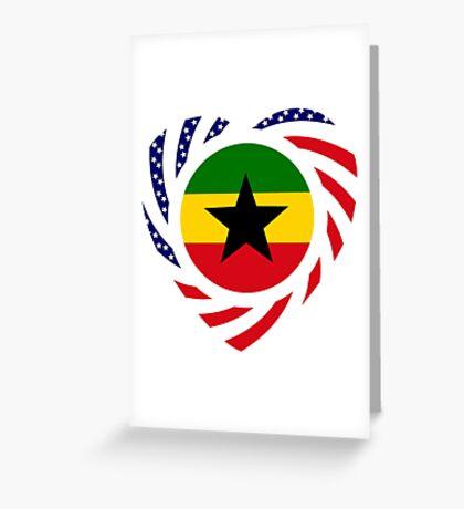 Ghanaian American Multinational Patriot Flag Series 2.0 Greeting Card