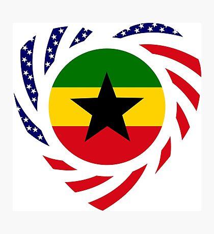 Ghanaian American Multinational Patriot Flag Series 2.0 Photographic Print