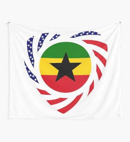 Ghanaian American Multinational Patriot Flag Series 2.0 Wall Tapestry