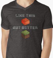 Minecraft - like legos but better Men's V-Neck T-Shirt