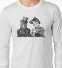 The Owl and the Pussycat | Black and White Long Sleeve T-Shirt