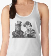 The Owl and the Pussycat | Black and White Women's Tank Top