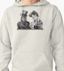 The Owl and the Pussycat   Black and White Pullover Hoodie