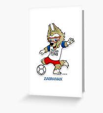 Russland 2018 Maskottchen Weltmeisterschaft ketan Grußkarte