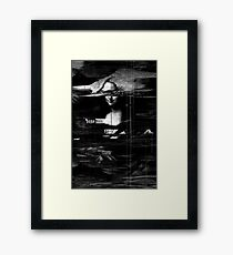 Mona Lisa Glitch Framed Print