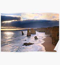 """The Twelve Apostles"" Sunset, Great Ocean Rd, Australia Poster"