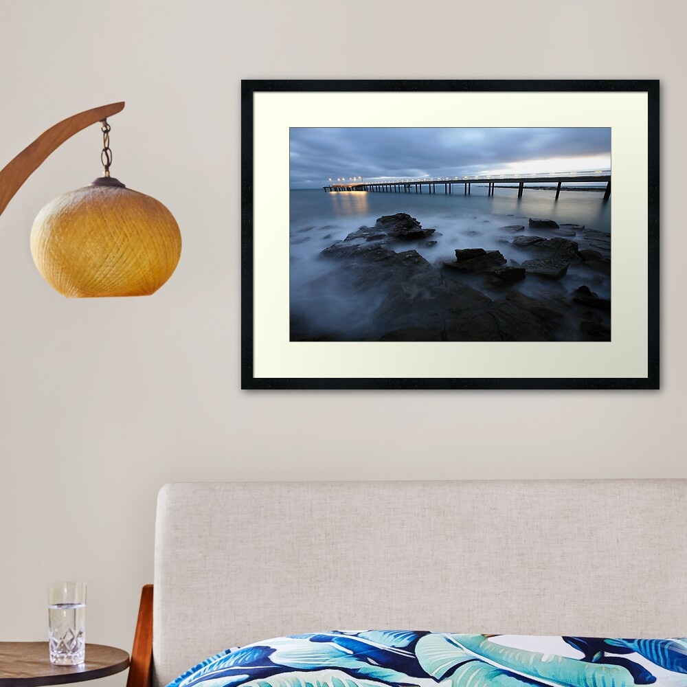 Lorne Pier Pre-Dawn, Great Ocean Road, Australia Framed Art Print